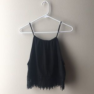 URBAN OUTFITTERS BLACK LACE TANK TOP